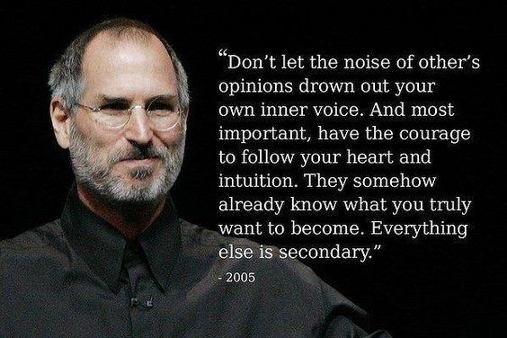 Steve Jobs Inner Voice Inspiration